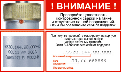 Маркировка амортизаторов Хендай Солярис от SS20
